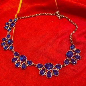 2/15$ Royal Blue statement necklace